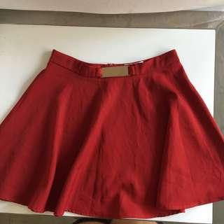 Red skater skirt size 8
