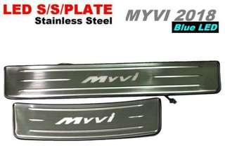 MYVI 2018 Stainless Steel LED Door Side Sill Step Plate