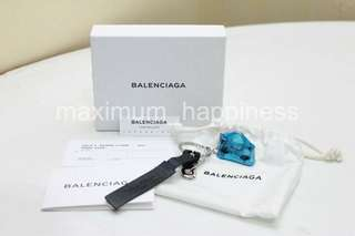 AUTHENTIC BALENCIAGA SS 2014 SILVER MINI CITY BAG KEY CHAIN / FOB / RING / BAG CHARM – BRAND NEW