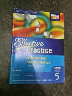 Form 5 Additional maths exercise book