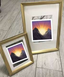 Gold Photo Frames (2 pcs)