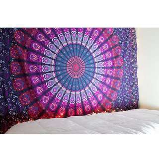 Indian mandala wall hanging / sofa cover/ hiasan dinding