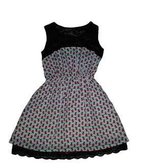 Dress w/ Cherry Print
