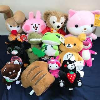 🚚 娃娃 卡娜赫拉 拉拉熊 熊抱哥 旅行青蛙 熊本熊