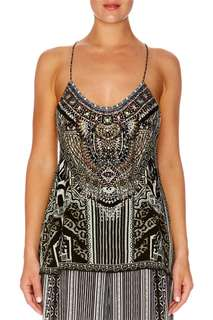 Camilla Tribal Theory T-Back Shoestring Top