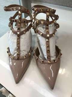 Valentino Rockstud 6cm Heel Shoes  -Size 37.5