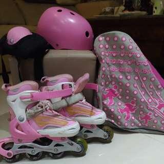 🚚 女童直排輪整套(勁速)適4到5歲