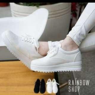 🚚 白色厚底鞋