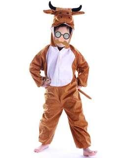 Kids Bull Mascot Costume