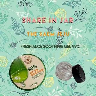 (Share in Jar 5gr) The Saem Jeju Fresh Aloe Soothing Gel 99%