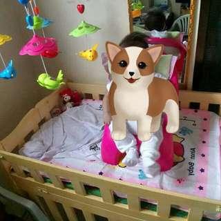 Wooden Crib / customized crib with Freebies 😊