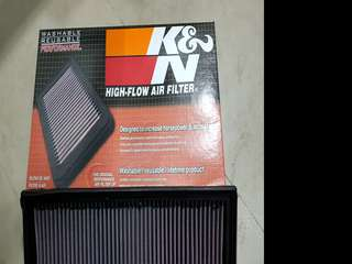 K&N washable /reusable high flow air filter for Volkswagen Jetta MK6