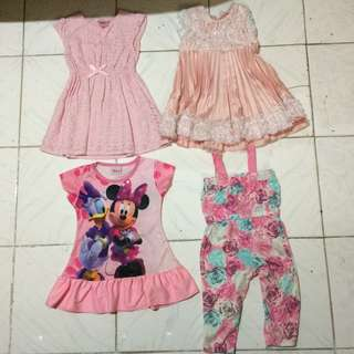 Take ALL - Pink Dress and Jumpsuit 4pcs