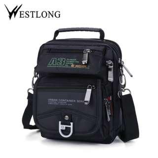 Westlong Korean fashion canvas multi pockets Belt bag