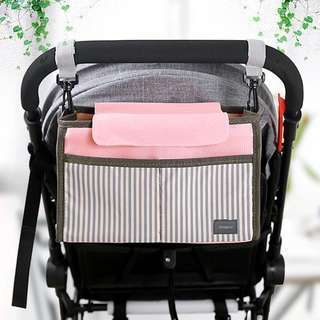⭐️[Ready stock] BN Stroller hanger multi-purpose baby cot organizer storage bag