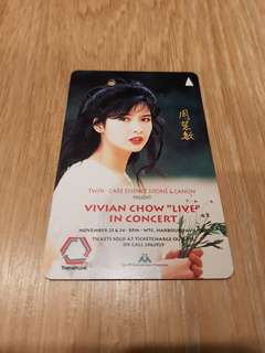 Vivian Chow MRT TransitLink Card