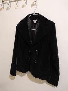 🚚 Tommy Hilfiger 黑色 修身 西裝外套 XS US 2