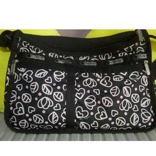 lesportsac sling bag authentic 9x14""