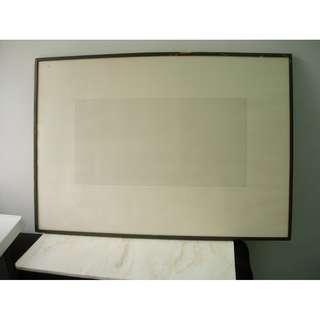 """藝術品 A HUNDRED PARALLEL LINES (0.3mm) ON A DOUBLE SQUARE (12""""x24"""") by C.H.LAU 1984"""
