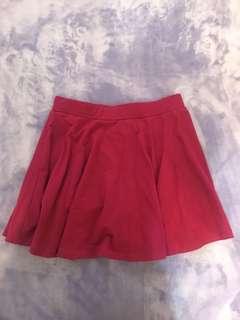 🚚 Lativ 桃紅短褲裙-M