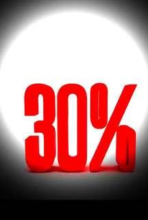 Sale!!! 30% Discounts