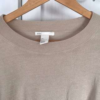 H&M Nude Knit Top