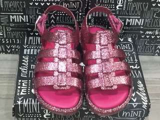 BNIB: US10 Mini Melissa Flox BB #Pink Glitter