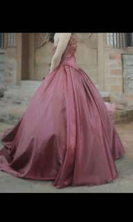 Red Gown (two tone) (long back)