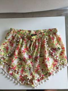 Floral shorts size 8-12
