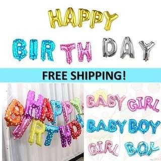 BN FREE MAIL Customized Happy Birthday Balloons