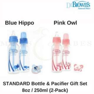 Dr Brown's Standard Bottle Gift Set (Blue/Pink)