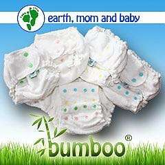 Earth, Mom and Baby Bumboo Snap Cloth Diaper