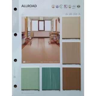 Lantai vinyl roll allroad berbanyak warna