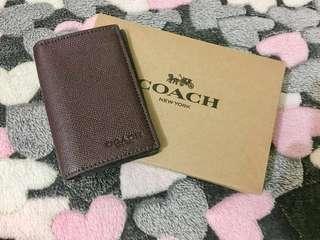 Coach Bifold Card Case in Crossgrain Leather