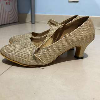 Ballroom dance shoes 標準舞鞋 金色 室內舞蹈室用 high heels
