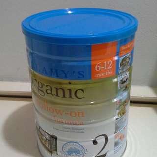 Bellamy's baby formula milk. 6-12 mths.Special.