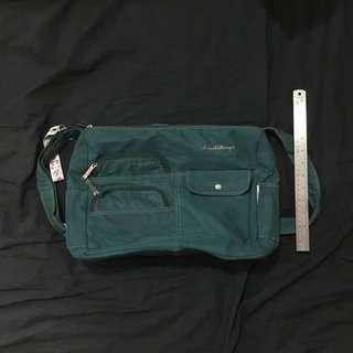 Heartstrings Blue-Green Sling Bag