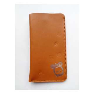 TSUM TSUM 皮革手機套-深棕 (全新)