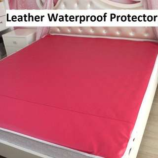 Leather Waterproof Bed Cover- Brand New