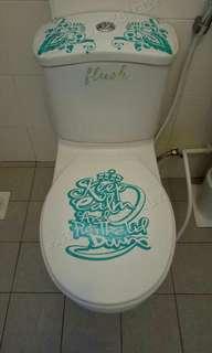 One set of toilet seat stickers!