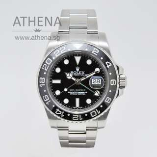 """ROLEX OYSTER PERPETUAL DATE GMT MASTER II CERAMIC """"M"""" SERIES WITH CERT 116710LN (LOCAL AD) JGWRL_531"""