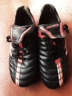 Pro-Specs Football Soccer Shoes Size 7us Black