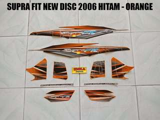 Striping Supra Fit New Disc 2006 Hitam - Orange