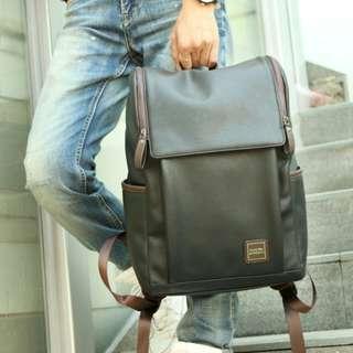 Korean PU leather mens fashion bag