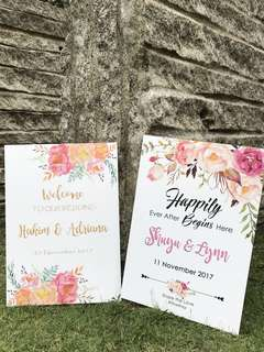 Wedding Announcement Signboard Direction Venue Entrance Board
