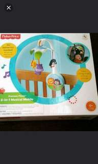 Fisher Price 2 in 1 cribs baby cot mobile