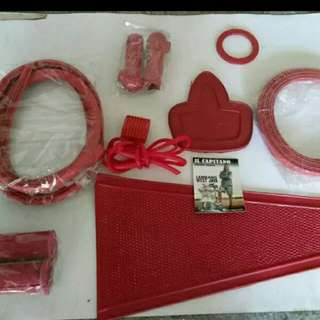 Vespa super sprint vbb red rubber set