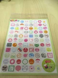 Super Cute Korean Stickers For Scrapbooking