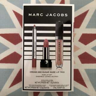 Marc Jacobs Cream & Sugar Nude Lip Trio