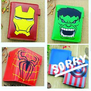 Superheroes flipped wallets